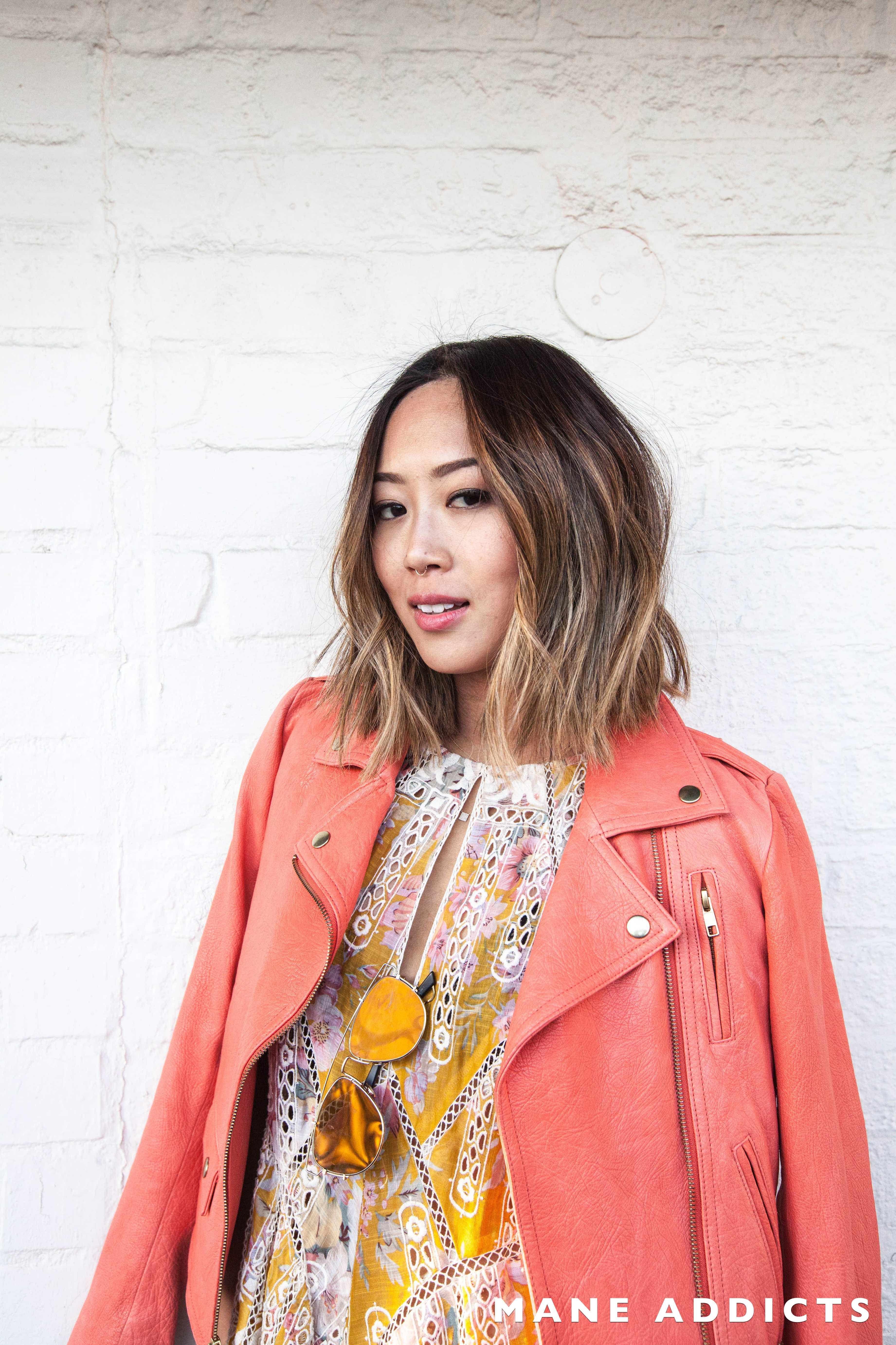 Aimee Song Song of Style blogger bob lob short hair asian hair