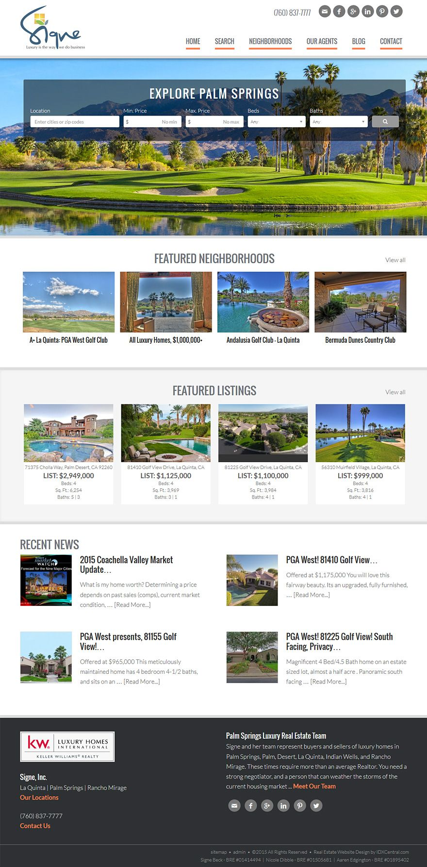 California View Signe Beck S Stunning Real Estate Wordpress Website This Site Is Built From Our S Real Estate Website Design Real Estate Website Real Estate