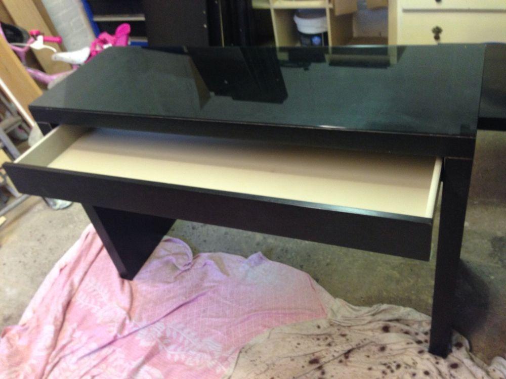 Ikea Malm Dressing Table Desk Glass Top Black Smart Table Ikea Malm Dressing Table Malm Dressing Table Dressing Table Desk