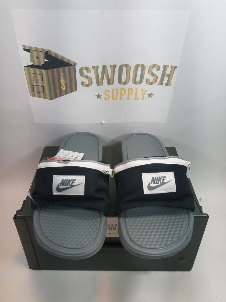 2b904de01630f Nike Benassi JDI Fanny Pack Slide Black White Cool Grey AO1037-001 Mens Sz  9 #Nike #Athletic