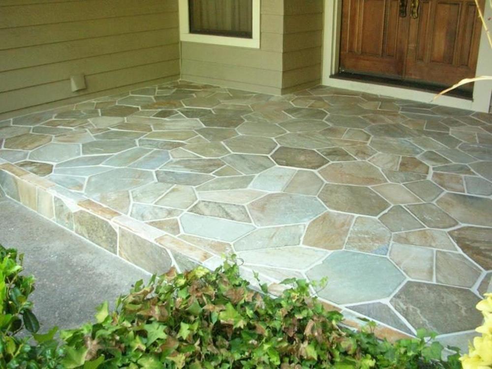 Outdoor Stone Tile Flooring Ideas