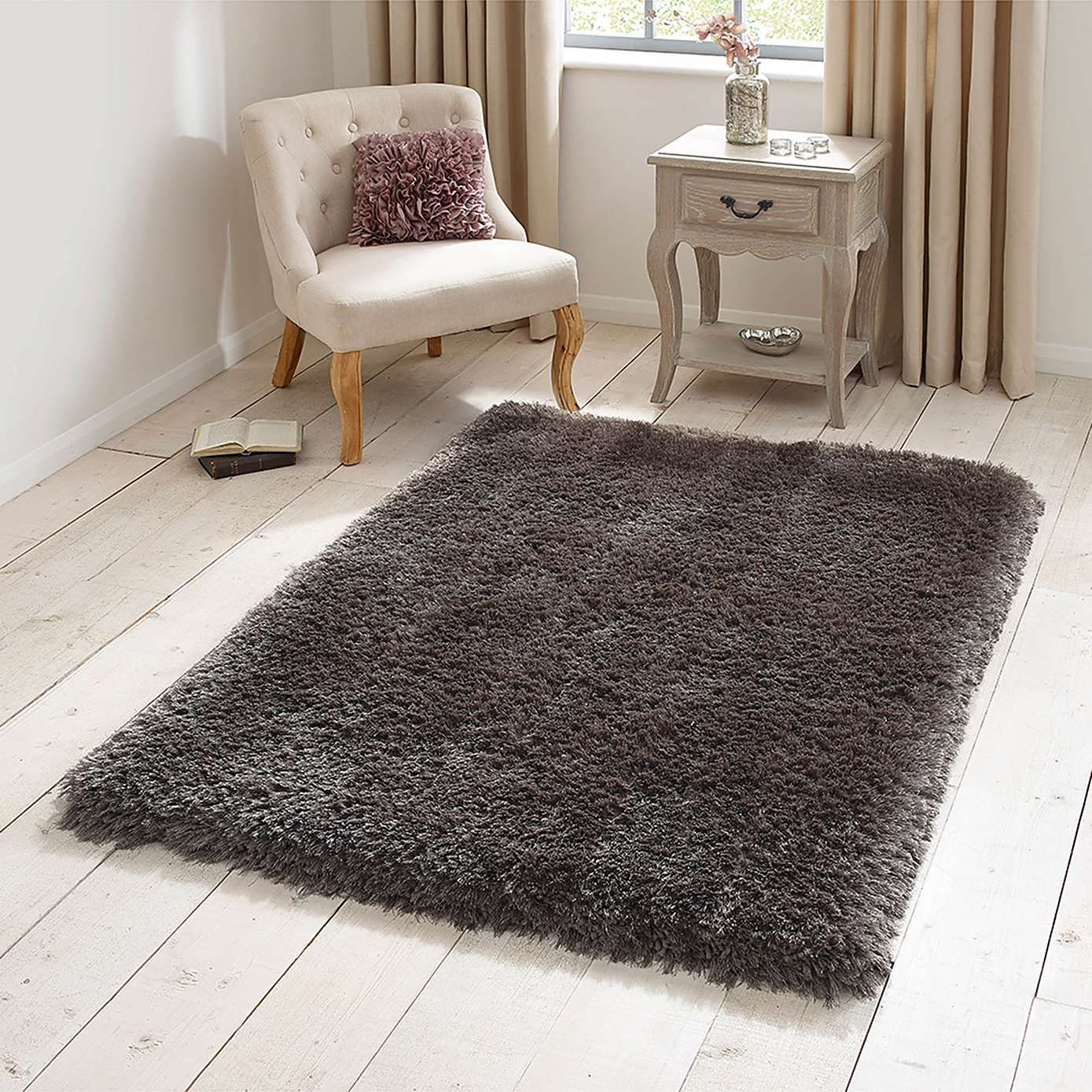 Steel Jewel Shaggy Rug