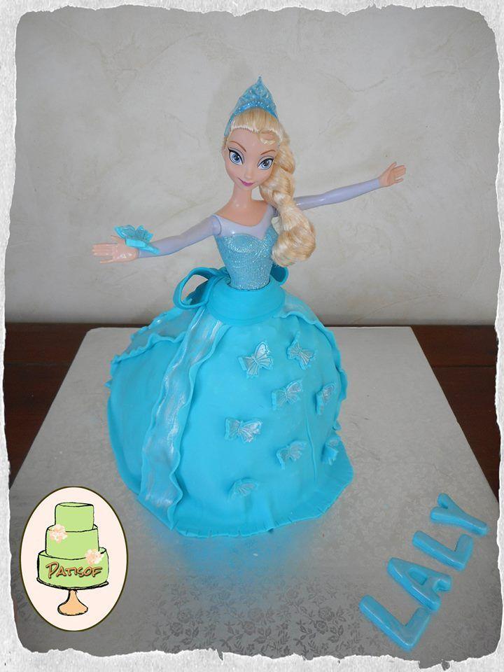 G teau en p te sucre rapide reine des neiges d cor en 1h chrono pour l 39 anniversaire de ma - Gateau de reine des neiges ...