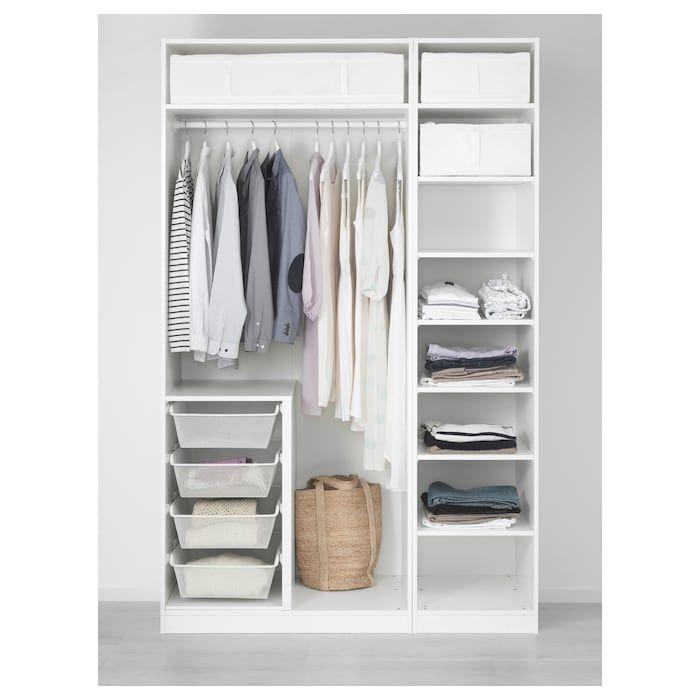 PAX Wardrobe white, Bergsbo white 59x23 5/8x93 1/8