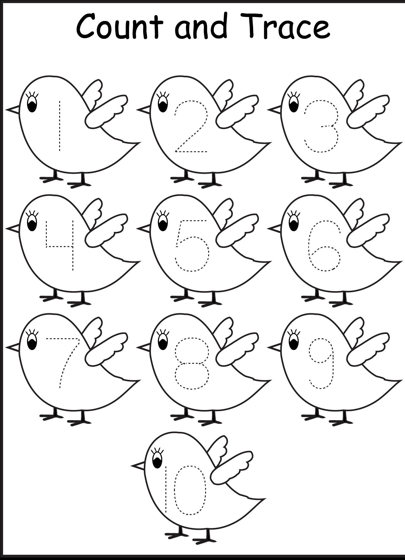Ten Beautiful Bird Coloring Page Дошкольные распечатки