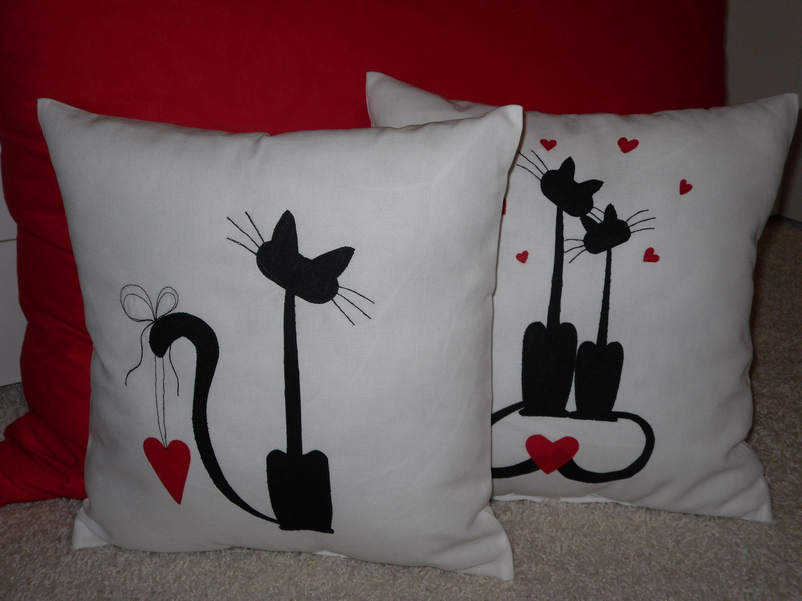San valentin con gatitos almohadones sewing pillows diy pillows crochet cushions - Hacer cojines sofa ...