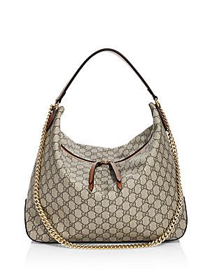Gucci Linea Large GG Supreme Canvas Hobo Bag  601bdf4ccb0e6