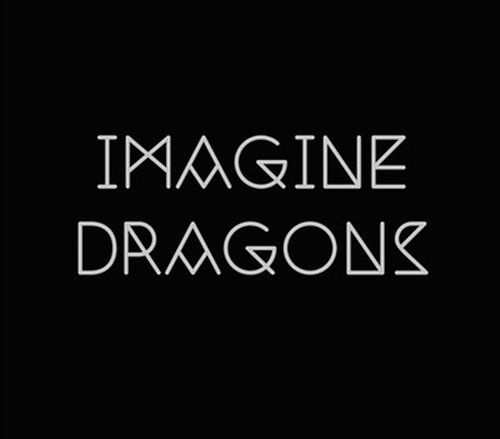 music in black and white imagine dragons logo design