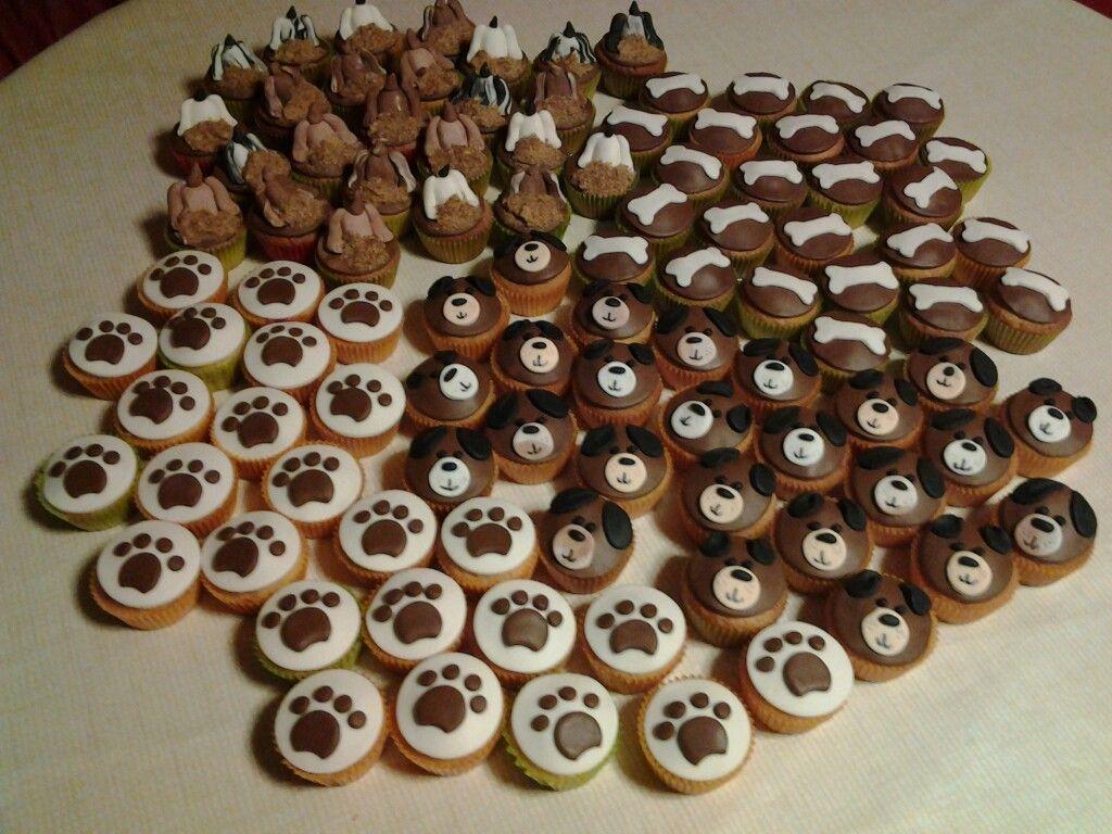 Hondjes cupcakes !!
