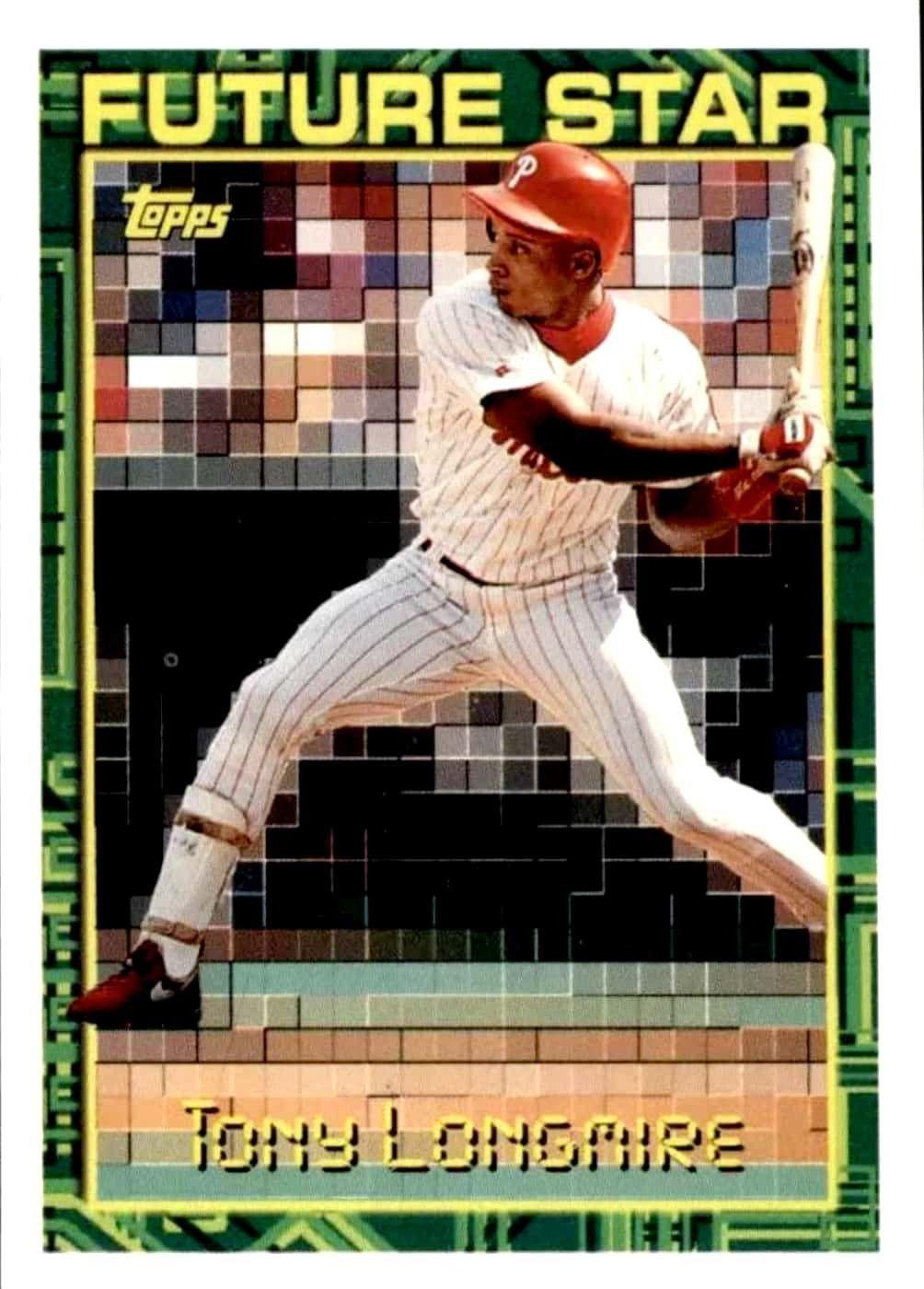 Tony Longmire, 1994 Phillies Baseball cards, Baseball, Stars