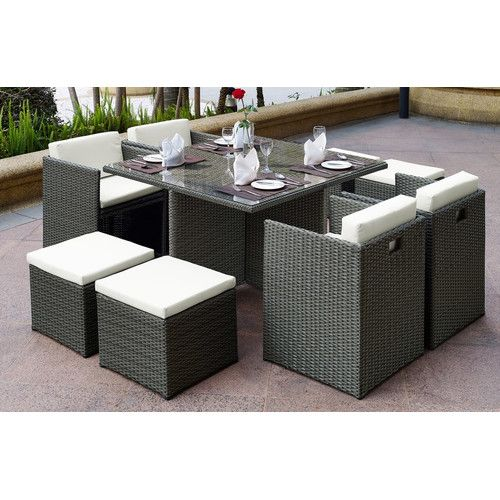 Found it at Wayfair - Aristotle 9 Piece Dining Set with Cushions ...