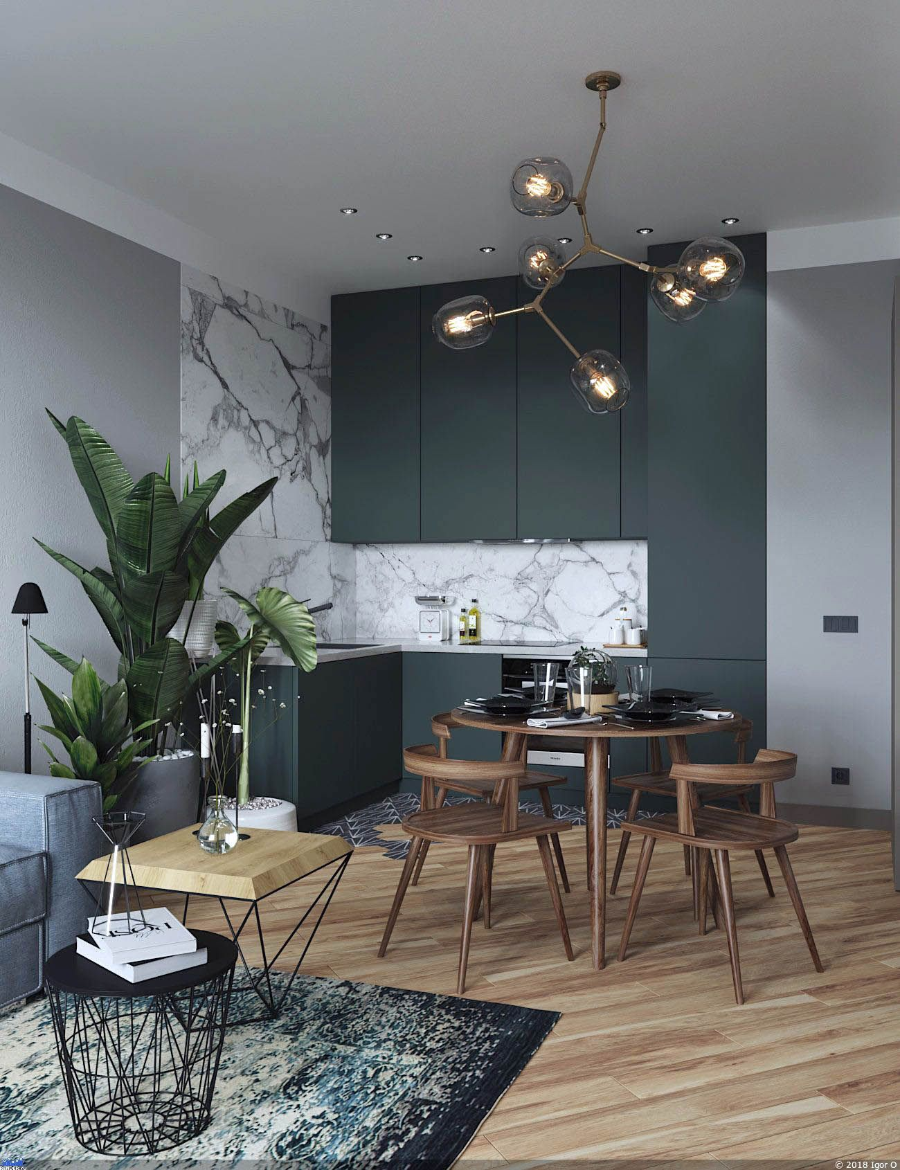 First Rate Sage Green Kitchen Cabinets With Black Appliances Exclusive On Smart Home Decor Apartment Interior Design Apartment Interior Affordable Dining Room