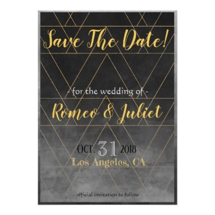 Grey gold save the date card wedding invitations cards custom grey gold save the date card wedding invitations cards custom invitation card design marriage stopboris Images