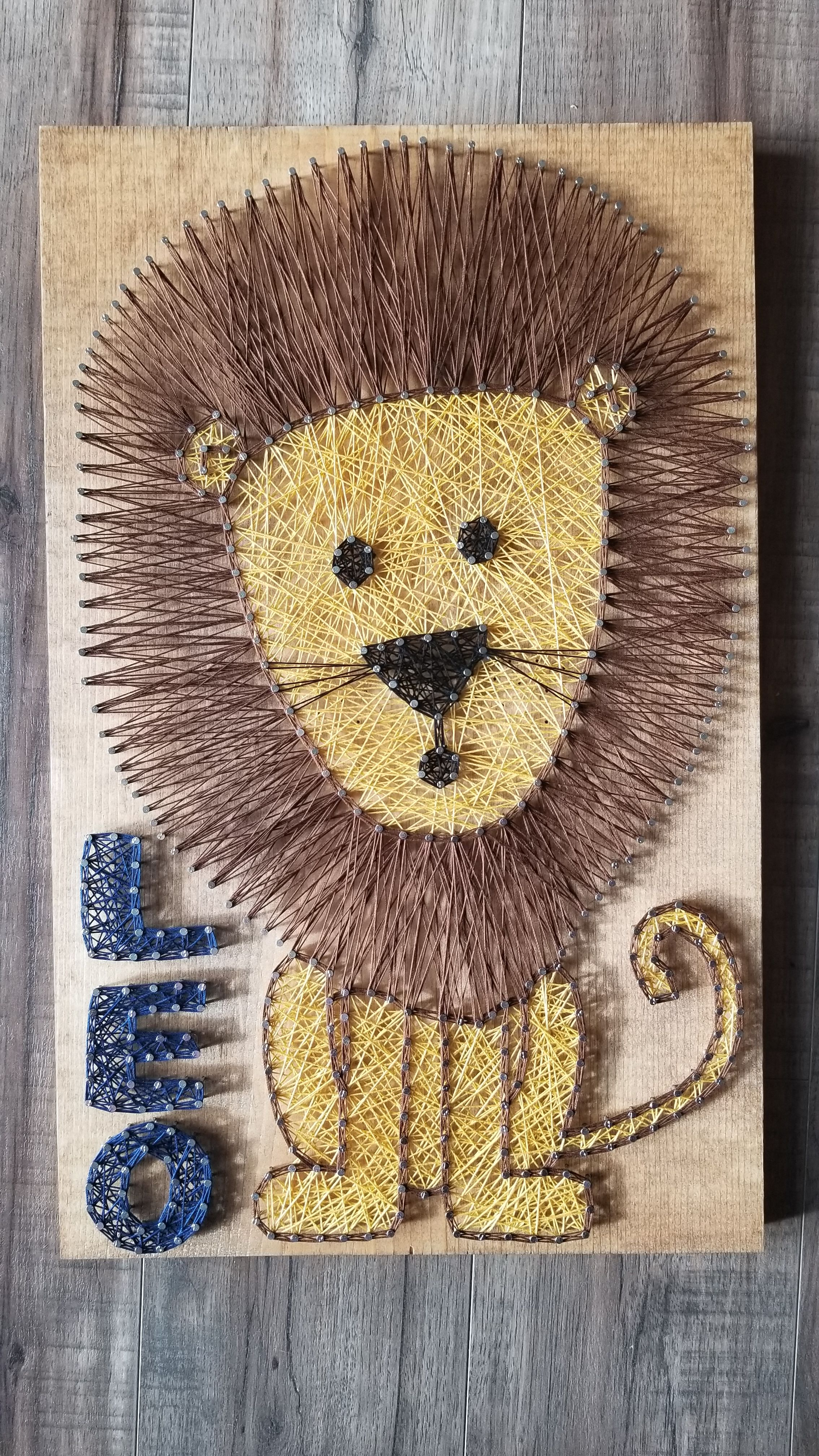 Custom String Art Lion String Art Nailed