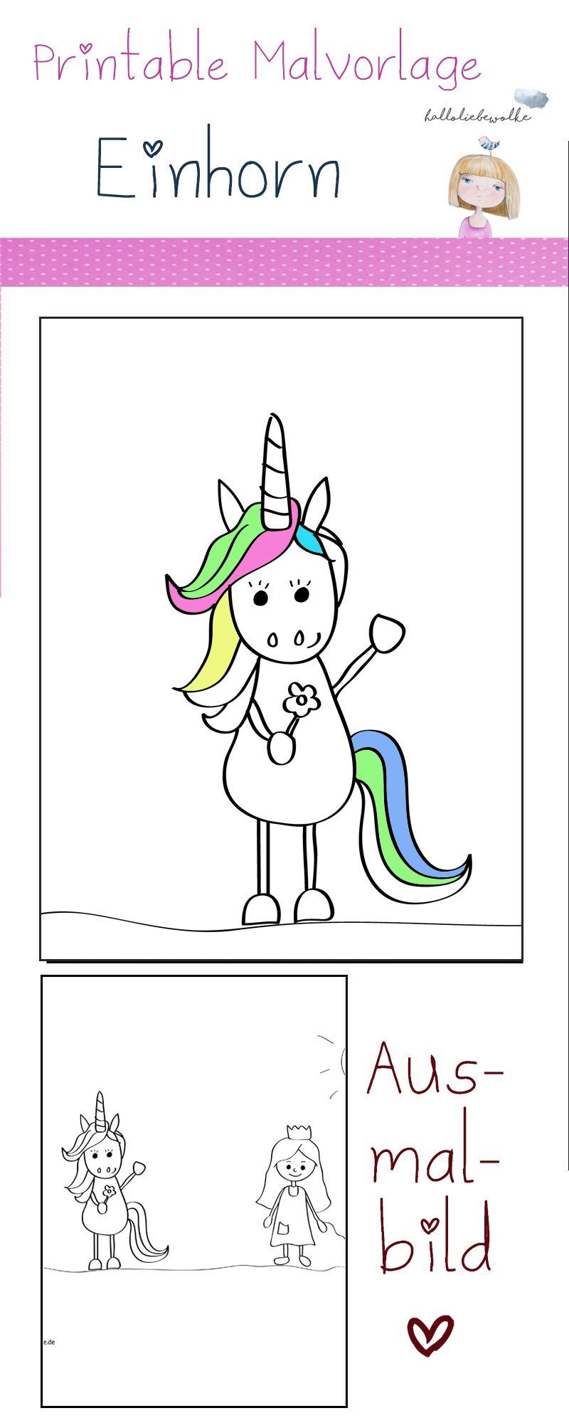 printable  malvorlage einhorn und prinzessin  unicorns