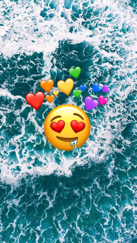 Pin By 馬鹿 On Phone Wallpapers Cute Emoji Wallpaper Emoji Wallpaper Iphone Emoji Wallpaper
