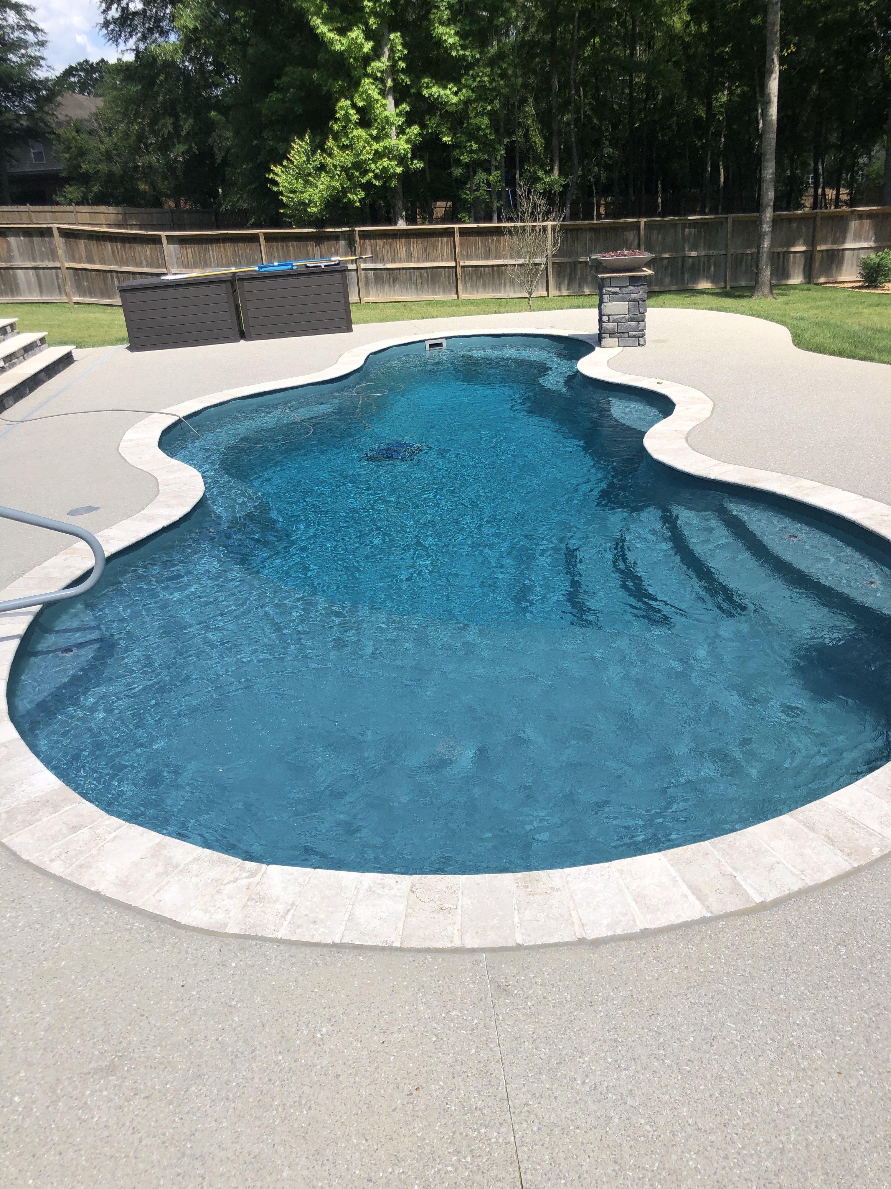 Trilogy Axiom Fiberglass Pool With Baja Shelf Fiberglass Pools Pools Backyard Inground Dream Pools