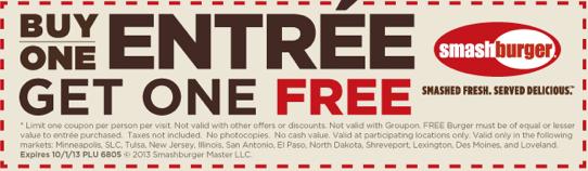 picture regarding Smashburger Printable Coupons named Smashburger Printable Coupon codes Printable coupon codes, Acquire 1