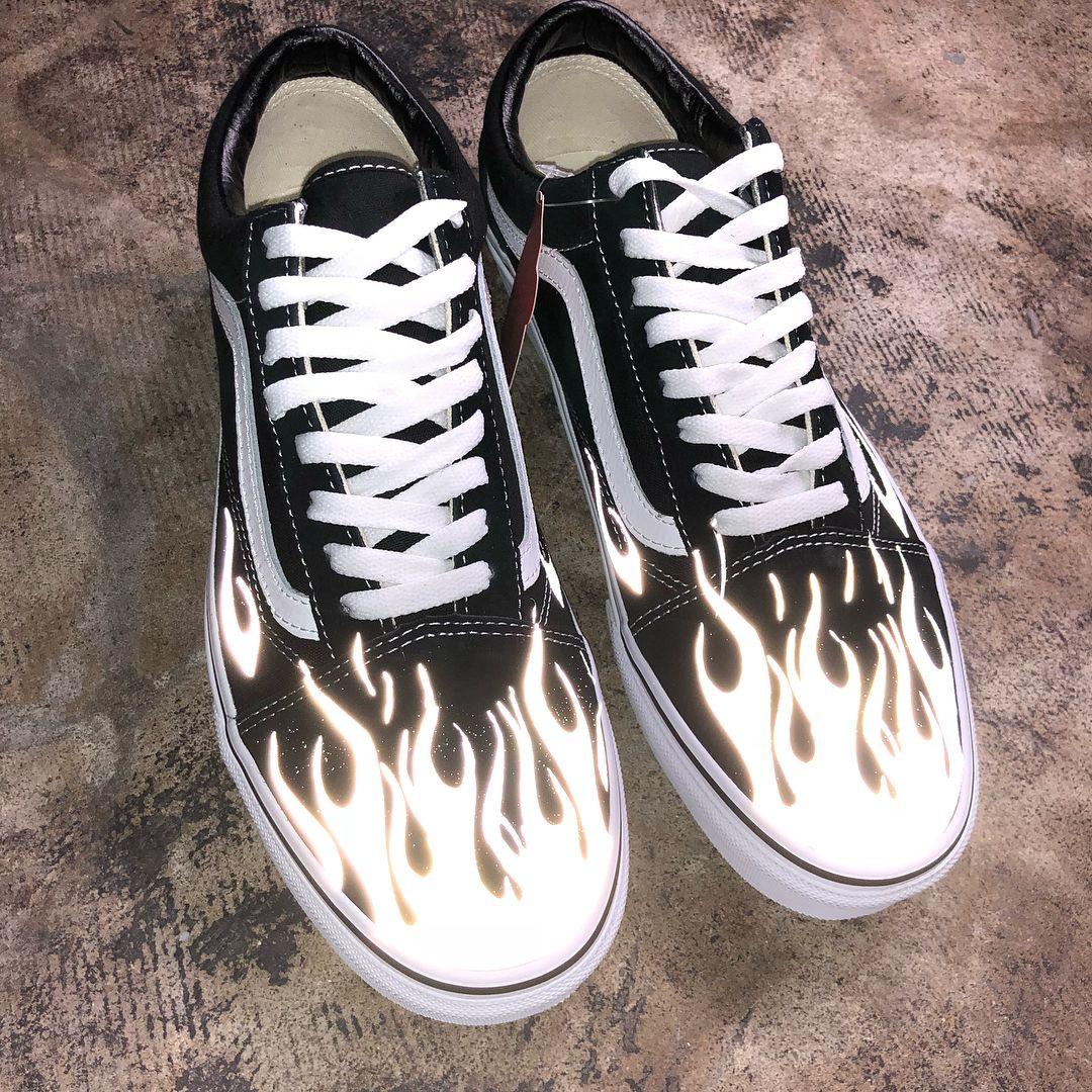 611abad086 VANS Old Skool 3M Flames custom