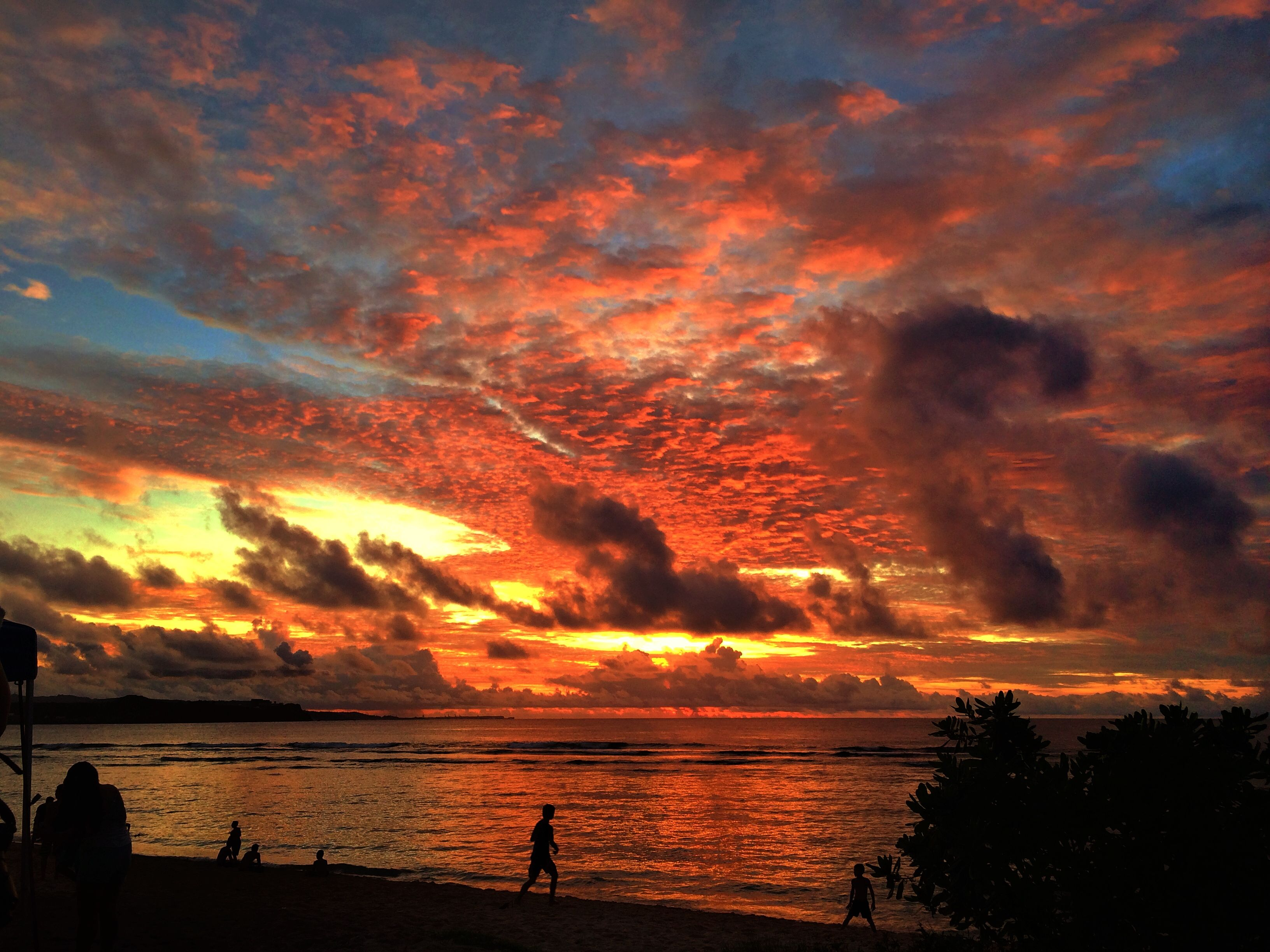 sunset gun beach 2014 guam pinterest