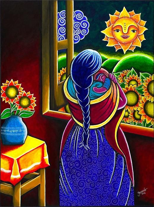 A Mother S Love Print By Gerardo Zarate Mexican Art Mexican Paintings Mexican Artwork