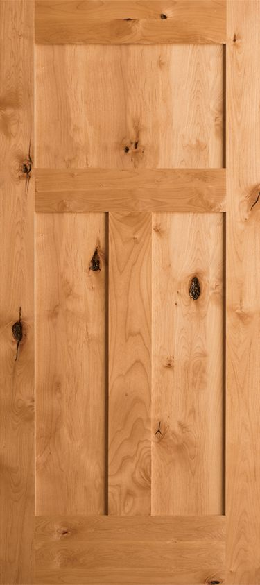 Knotty Alder 3 Panel Craftsman Shaker Krosswood Alder Doors Profile Prehung Interior Doors Craftsman Interior Doors Wood Doors Interior