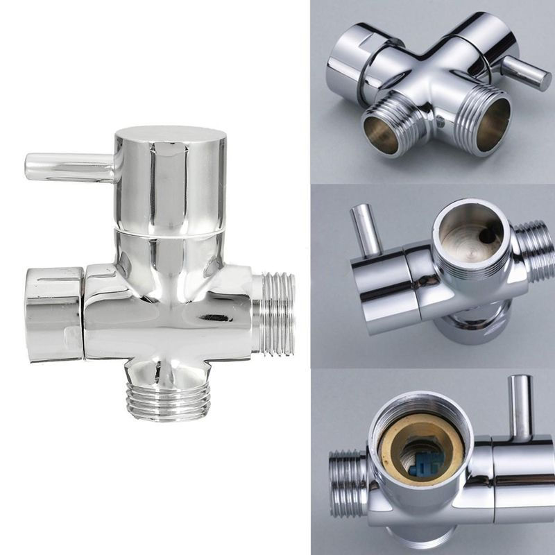 Brass 3-Ways Shower Head Diverter Valve Bathroom Toilet Sprayer ...