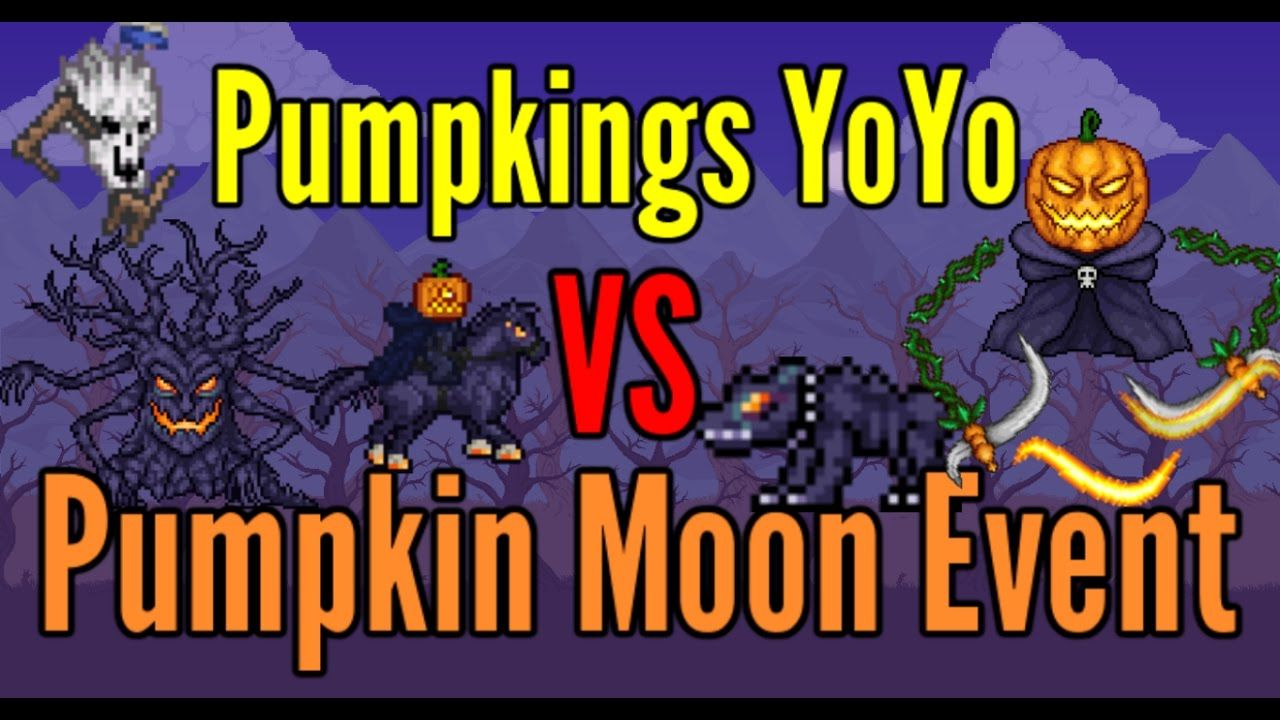 terraria pumpking yoyo vs pumpkin moon event | terraria | pinterest