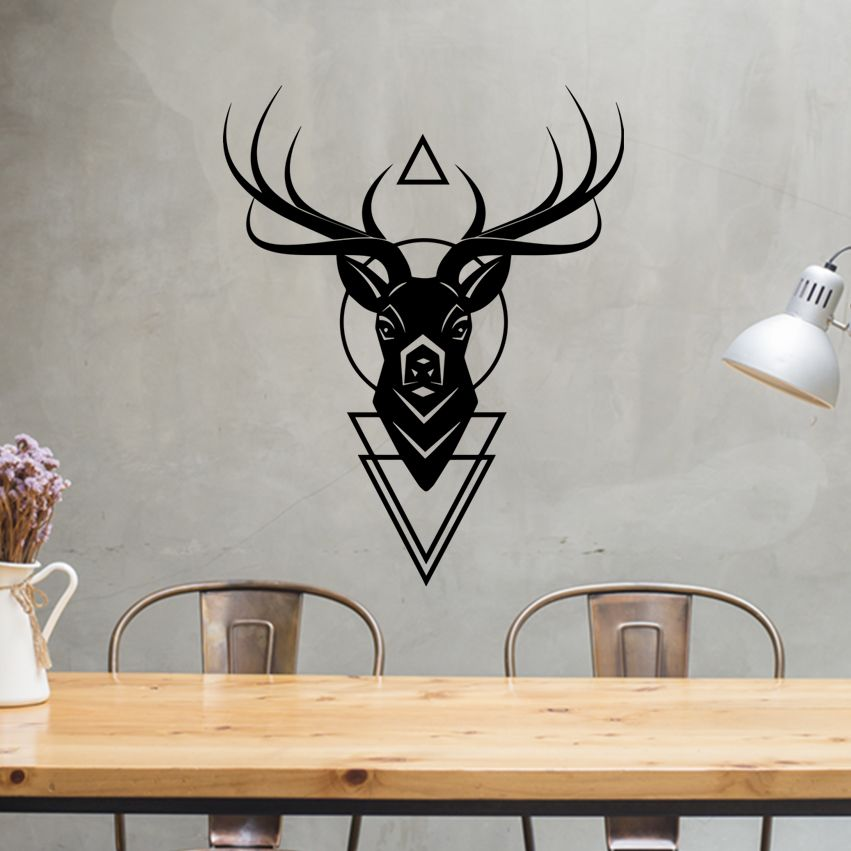 stag head wall art stag head decor above bed wall art above bed