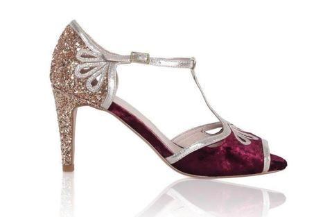 zapatos de novia esme color vino | sandalias de novia | stiletto