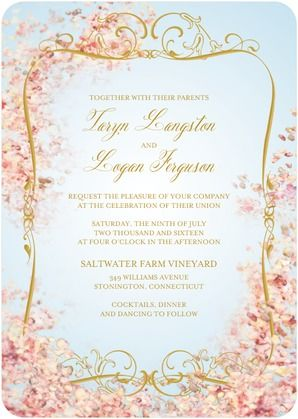 This Wedding Invitation brings an Earthly Paradise alive Find