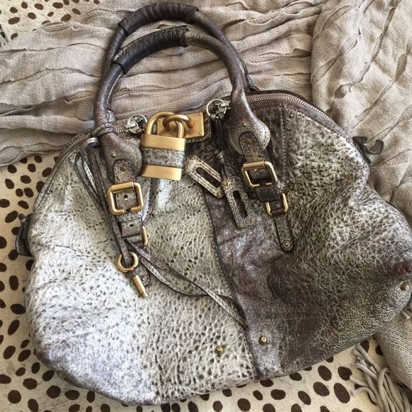 100 Authentic Chloe Paddington Metallic Handbag