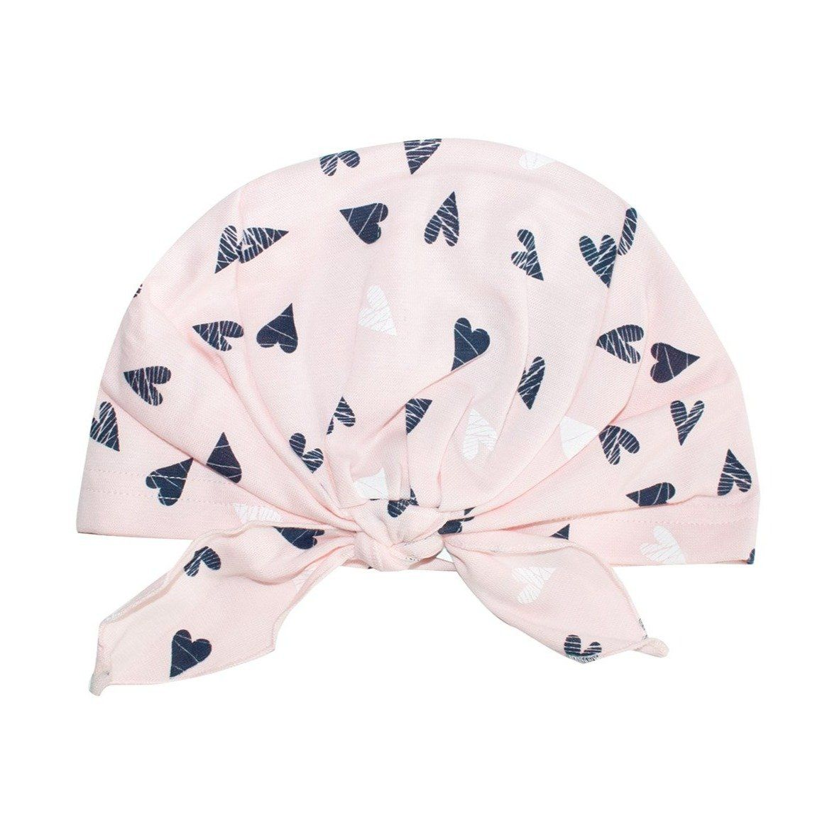 Light Pink Beanie with Tie Knot   38/055-LP