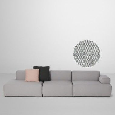 Muuto   Connect Sofa, Eckelement A (Armlehne Links), Remix 2 Hellgrau (123)  | Furniture Ideas And Modern