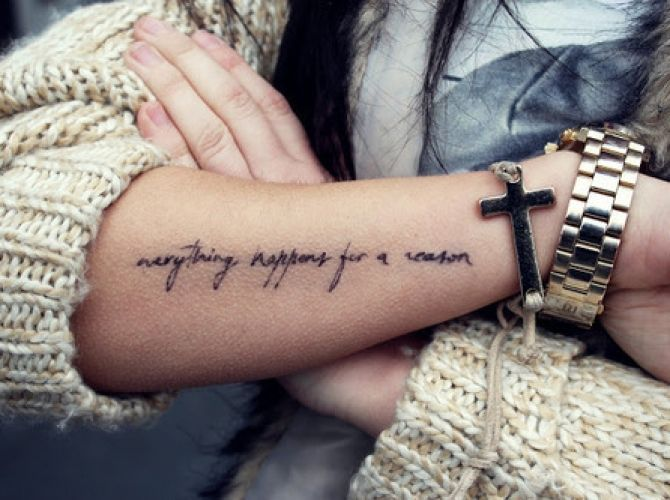 everything happens for a reason ink pinterest tattoo ideen tattoo spr che und tattoo schrift. Black Bedroom Furniture Sets. Home Design Ideas