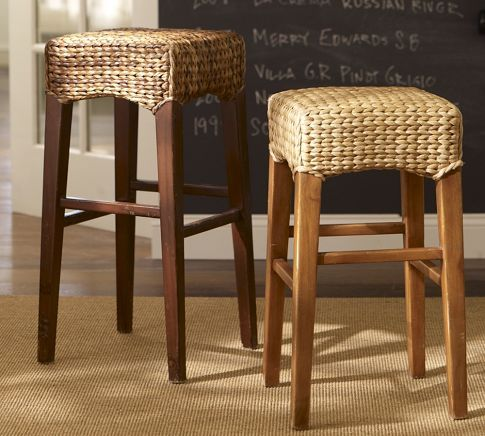 Bar Stools And High Table, Seagrass Backless Barstool I Want The Dark Ones For My Kitchen Bar Backless Bar Stools Bar Stools Seagrass Dining Chairs