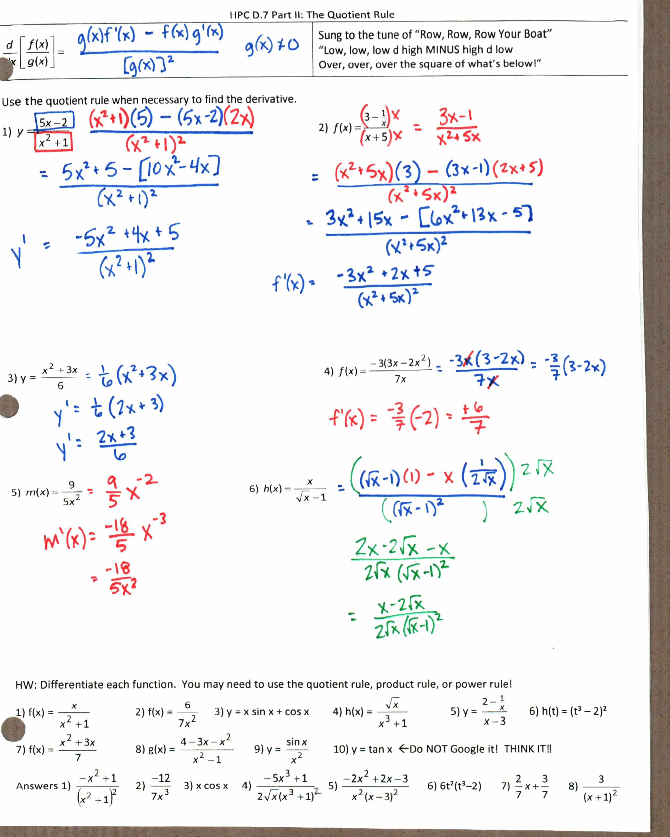 Insert Clever Math Pun Here Math Puns Quotient Rule Derivative [ 3200 x 2560 Pixel ]