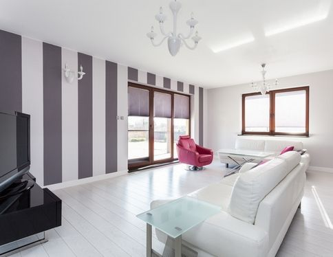 покраска стен в квартире в два цвета дизайн фото 6