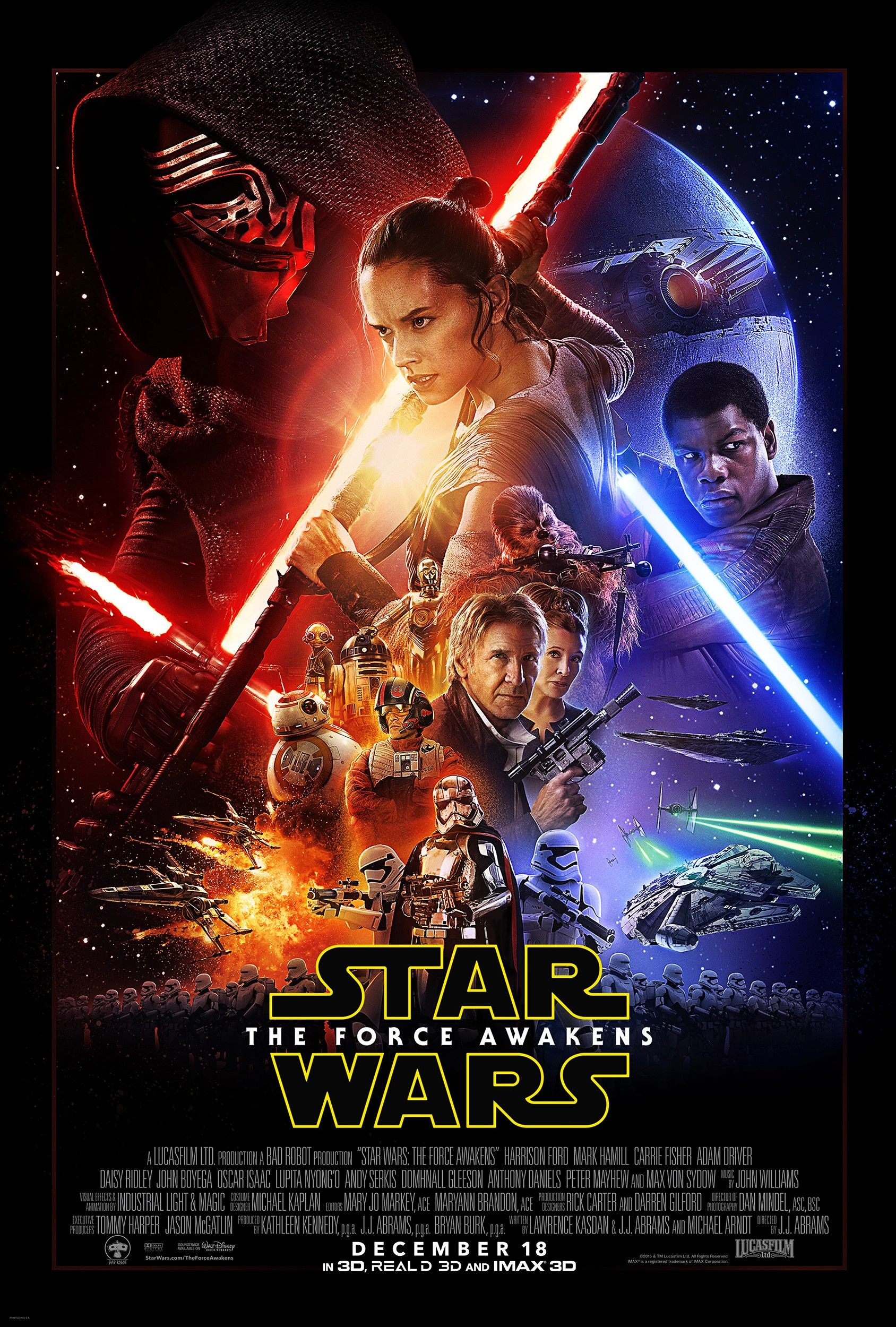 star wars the force awakens high res poster cosmic book news