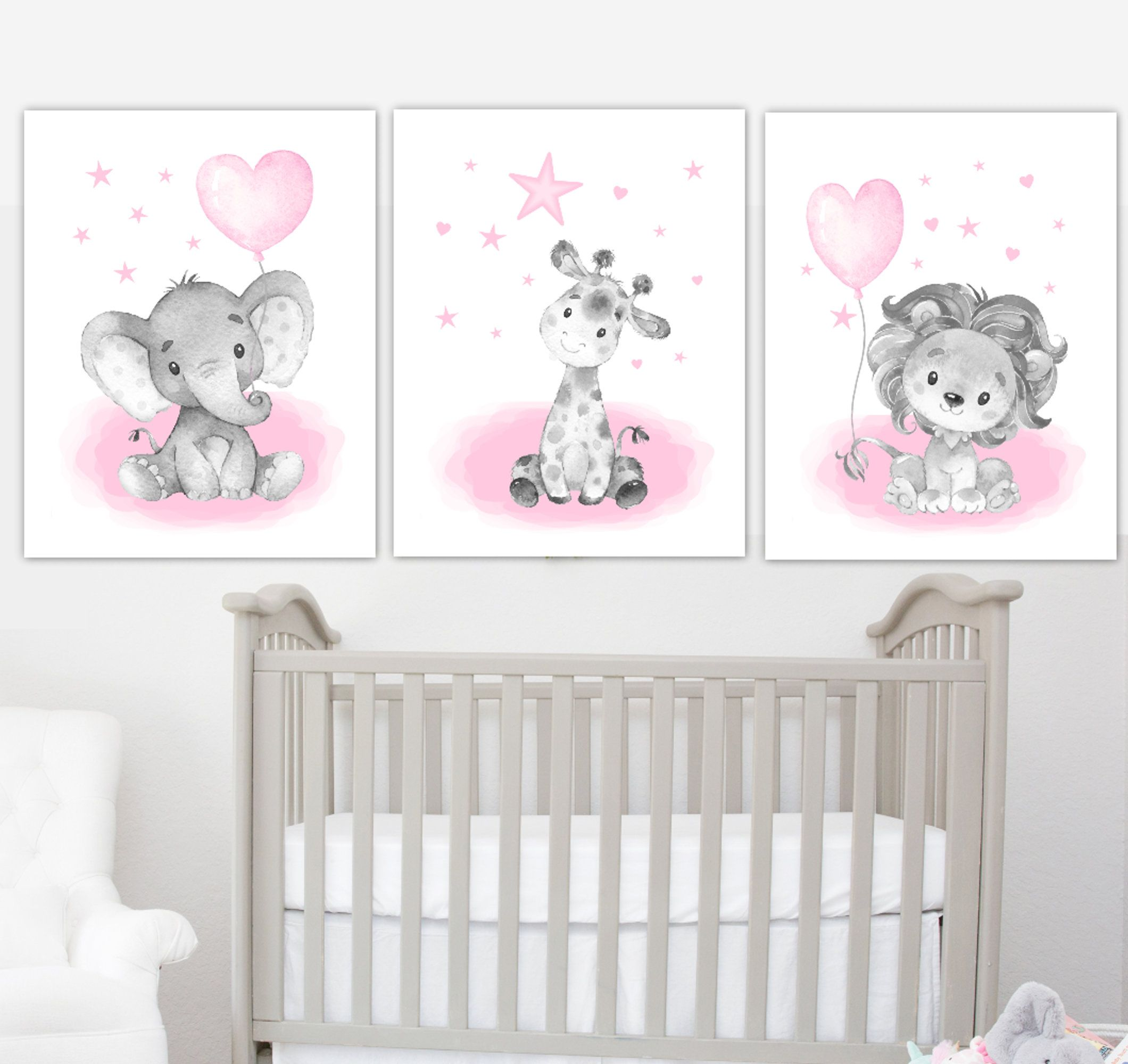 Baby Nursery Wall Art Pink