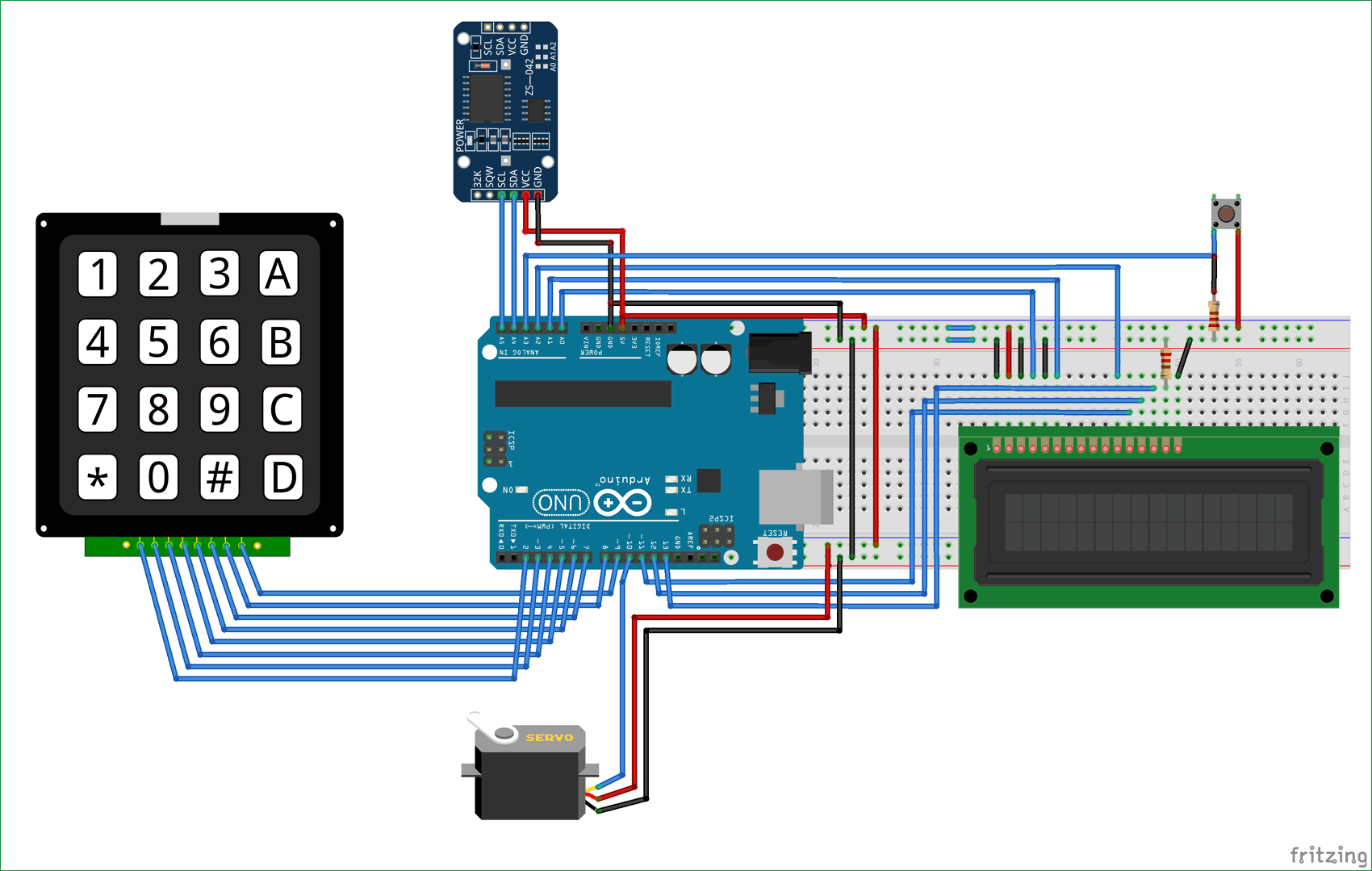 Automatic Pet Feeder circuit diagram using Arduino | Electronic ...
