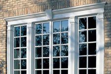 Exterior Window Trim Brick crosshead over multiple windows | farmhouse | pinterest | window