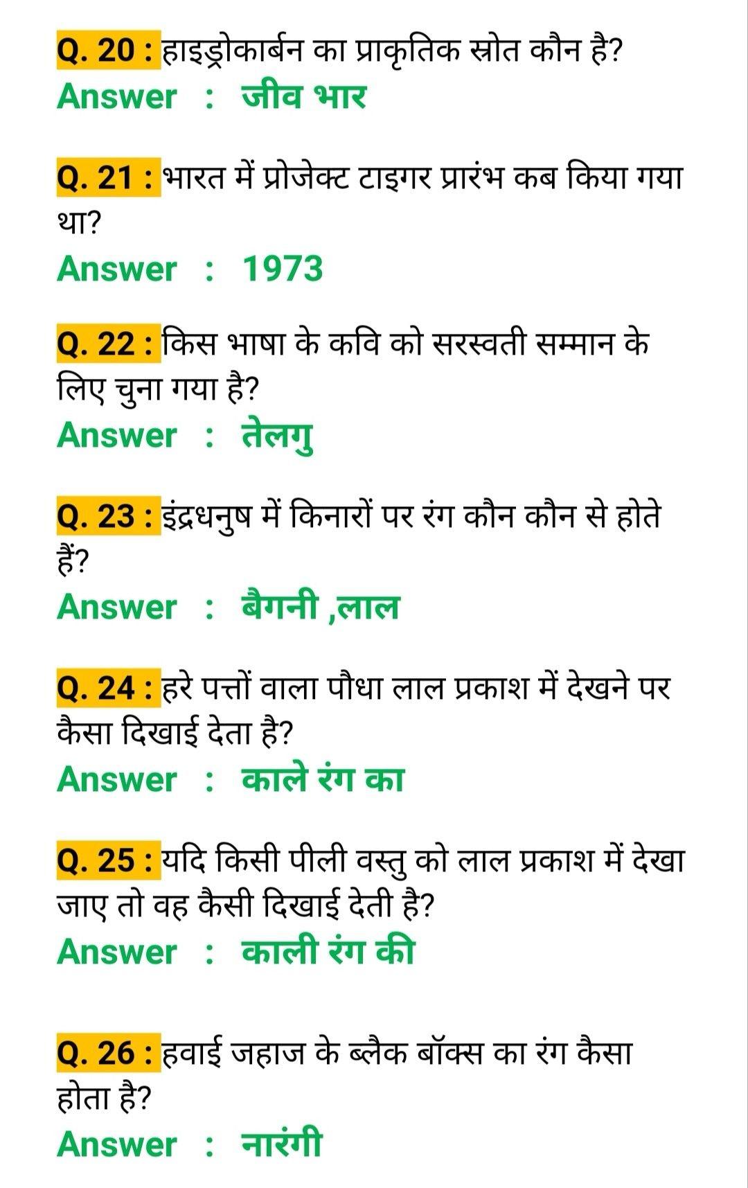 Gk In Hindi हिन्दी सामान्य ज्ञान About UPSC Gk Questions ...