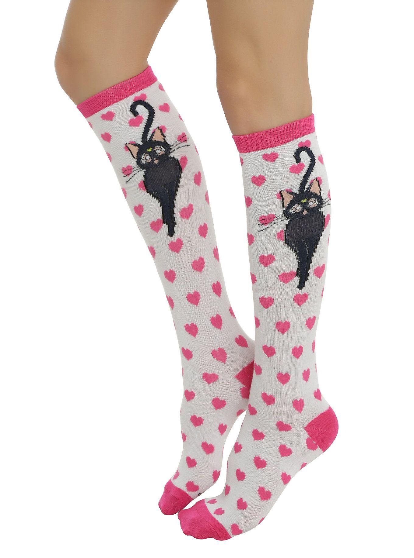 756fd0e0c Sailor Moon Luna Knee-High Socks