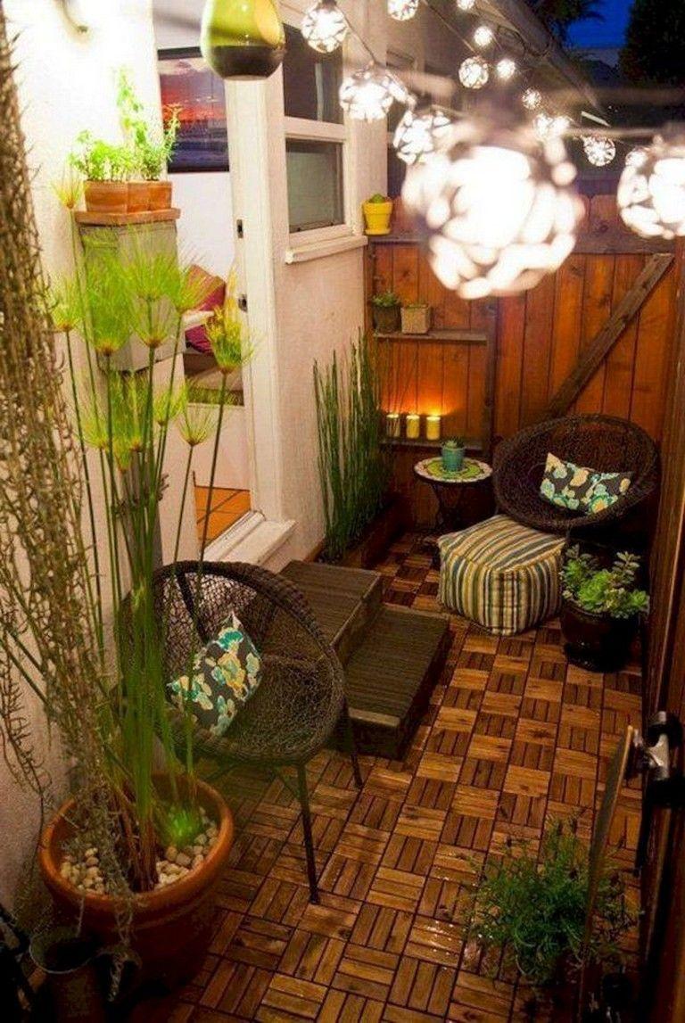 80 Best Small Apartment Balcony Decorating Ideas Apartment Backyard Patio Backyard Patio