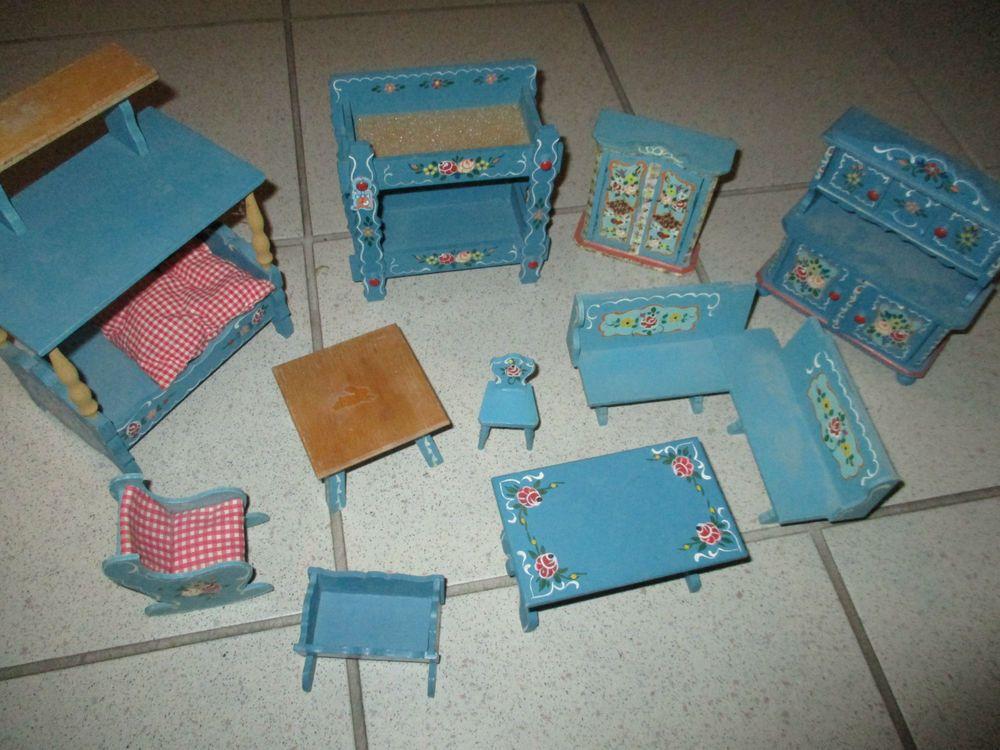 Puppenstube Bauernmalerei Original Schlafzimmer Bauernstube Dora