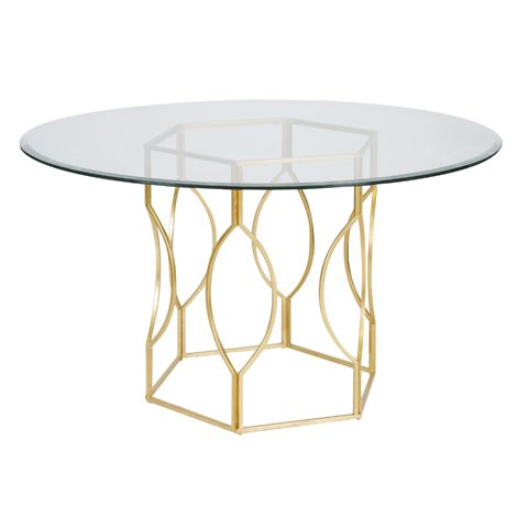 Worlds Away Abigail Gold Leafed Dining Table Base HPMKT Finds We
