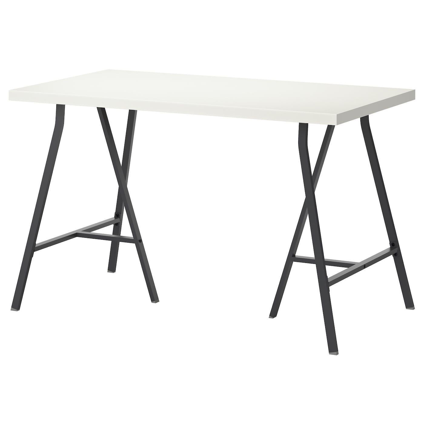 Linnmon Lerberg Table White Gray 47 1 4x23 5 8
