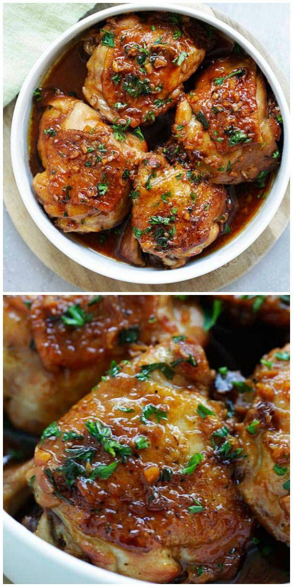 Poulet instantané en pot avec sauce au miel et à l'ail
