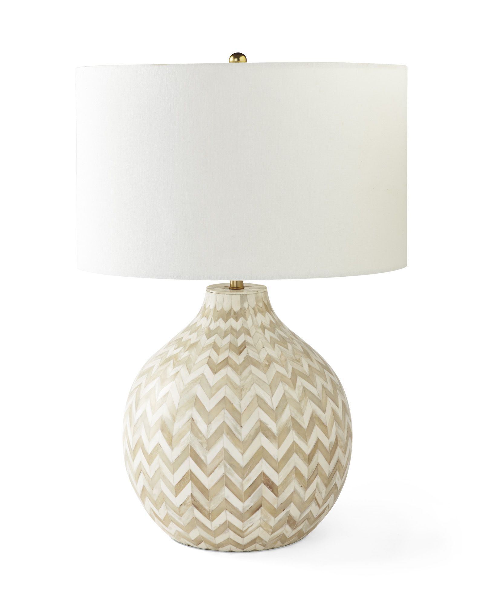 Inlaid Bone Table Lamp   Chevron patterns, Room and Lights